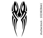 tattoo tribal vector design.... | Shutterstock .eps vector #1023828661