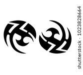 tattoo art tribal vector design.... | Shutterstock .eps vector #1023828664