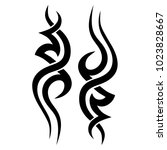 tribal pattern tattoo vector...   Shutterstock .eps vector #1023828667