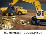miniature figure people working ...   Shutterstock . vector #1023834529