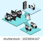 isometric vector illustration... | Shutterstock .eps vector #1023836167