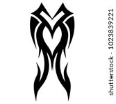 tattoo tribal vector design.... | Shutterstock .eps vector #1023839221