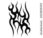 tattoo tribal vector design. | Shutterstock .eps vector #1023839245