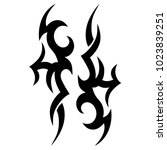 tattoo tribal vector design.... | Shutterstock .eps vector #1023839251