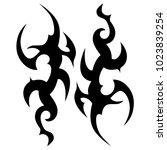 tattoo tribal vector design.... | Shutterstock .eps vector #1023839254