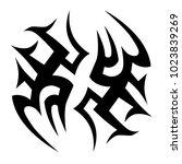tattoo tribal vector design. | Shutterstock .eps vector #1023839269