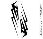 tattoo tribal vector design. | Shutterstock .eps vector #1023839281