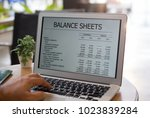 accounting software online. ... | Shutterstock . vector #1023839284