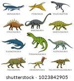 dinosaurs set  tyrannosaurus... | Shutterstock .eps vector #1023842905