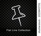 illustration of push pin icon... | Shutterstock .eps vector #1023845731
