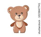 beautiful funny cartoon bear.... | Shutterstock .eps vector #1023847741