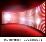 big projection screen on the... | Shutterstock .eps vector #1023850171