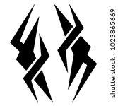 tattoo tribal vector design. | Shutterstock .eps vector #1023865669