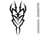 tattoo tribal vector design. | Shutterstock .eps vector #1023865705