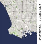 vector map of the city of los... | Shutterstock .eps vector #1023874375