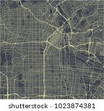 vector map of the city of los... | Shutterstock .eps vector #1023874381