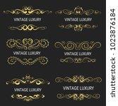 gold decorative frame.vintage... | Shutterstock .eps vector #1023876184