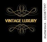 gold decorative frame.vintage...   Shutterstock .eps vector #1023877597