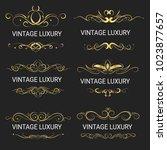 gold decorative frame.vintage... | Shutterstock .eps vector #1023877657