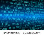 binary circuit board future...   Shutterstock .eps vector #1023880294