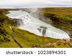 gullfoss  a waterfall in the... | Shutterstock . vector #1023894301