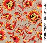 floral seamless pattern. flower ... | Shutterstock .eps vector #1023898339