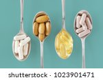 healthy supplements on... | Shutterstock . vector #1023901471