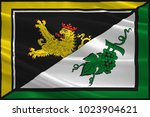 flag of alzey land is a... | Shutterstock . vector #1023904621