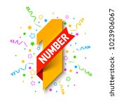 first number  first winner ... | Shutterstock .eps vector #1023906067