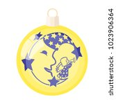 ball single icon in cartoon... | Shutterstock . vector #1023906364