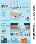 modern infographics set and... | Shutterstock .eps vector #102391051