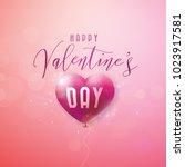 happy valentines day design... | Shutterstock .eps vector #1023917581