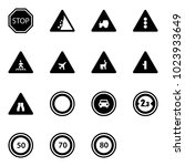 solid vector icon set   stop...   Shutterstock .eps vector #1023933649