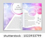 abstract vector layout... | Shutterstock .eps vector #1023933799