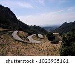 winding serpentine roads in the ...   Shutterstock . vector #1023935161