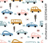 childish seamless pattern with... | Shutterstock . vector #1023936439