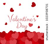 happy valentine's day card... | Shutterstock .eps vector #1023938731