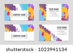 abstract vector layout... | Shutterstock .eps vector #1023941134