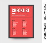 to do checklist design in flat... | Shutterstock .eps vector #1023941359