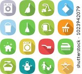 flat vector icon set   washing... | Shutterstock .eps vector #1023942079
