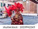 venice  italy   february 10...   Shutterstock . vector #1023942265