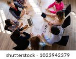 picture of young architects...   Shutterstock . vector #1023942379