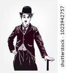 Charlie Chaplin Vector Sketch...