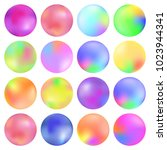 colorful fluid  round gradient... | Shutterstock .eps vector #1023944341