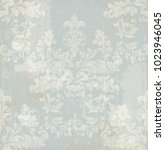damask pattern texture vector.... | Shutterstock .eps vector #1023946045