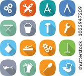 flat vector icon set   gear... | Shutterstock .eps vector #1023947209