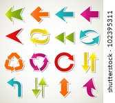 set of abstract colorful arrow... | Shutterstock .eps vector #102395311