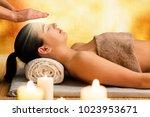 conceptual spiritual... | Shutterstock . vector #1023953671