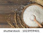 Thai Jasmine Rice On Wood Spoo...
