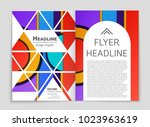 abstract vector layout... | Shutterstock .eps vector #1023963619